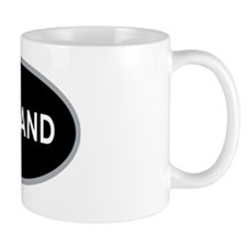 Oakland Black Oval Mug