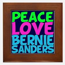 Bernie Sanders Love Framed Tile