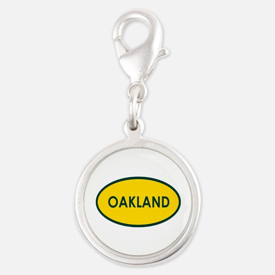 Oakland Yellow Oval Charms