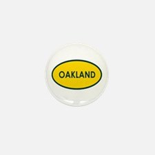 Oakland Yellow Oval Mini Button (10 pack)