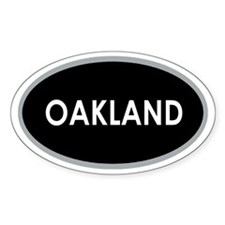 Oakland Black Oval Decal