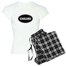 Oakland Black Oval Pajamas