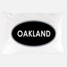 Oakland Black Oval Pillow Case