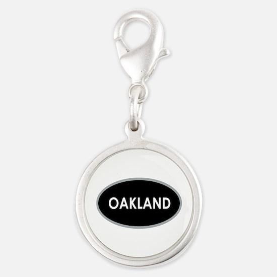 Oakland Black Oval Charms