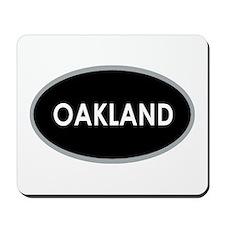 Oakland Black Oval Mousepad