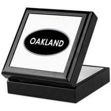 Oakland Black Oval Keepsake Box