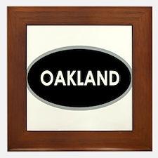Oakland Black Oval Framed Tile