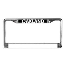 Oakland Black Oval License Plate Frame