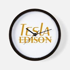 Nikola Tesla Edison Wall Clock