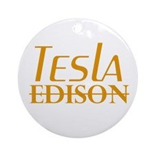 Nikola Tesla Edison Ornament (Round)