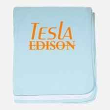 Nikola Tesla Edison baby blanket