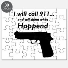 I will call 911 and tell them what happened Puzzle