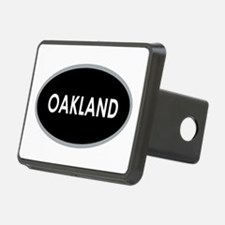 Oakland Black Oval Hitch Cover