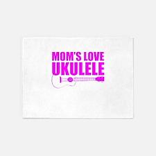 Mother's Day Ukulele 5'x7'Area Rug