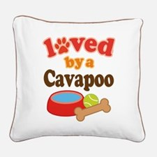 Cavapoo Dog Lover Square Canvas Pillow