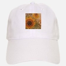 rustic western country sunflower Baseball Baseball Cap