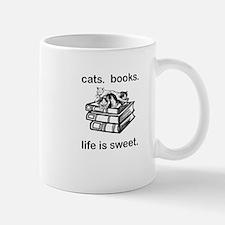CATS.  BOOKS.  LIFE IS SWEET Mug