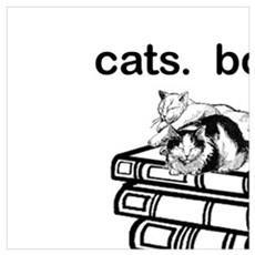 CATS.  BOOKS.  LIFE IS SWEET Poster