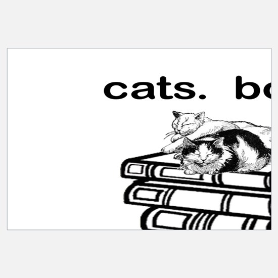 CATS.  BOOKS.  LIFE IS SWEET