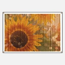 rustic western country sunflower Banner