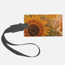 rustic western country sunflower Luggage Tag