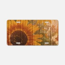rustic western country sunf Aluminum License Plate