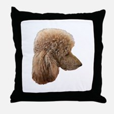 Funny Standard poodle Throw Pillow