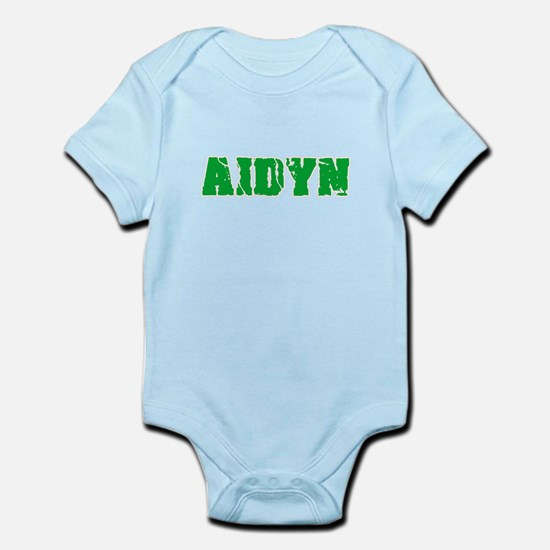 Aidyn Name Weathered Green Design Body Suit
