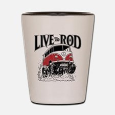 LIVE TO ROD 1964 Microbus Shot Glass