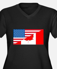 Canada Flag Women 39 S Plus Size Clothing Plus Size Shirts