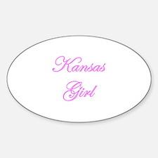 Kansas Girl Oval Decal