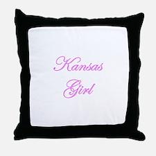 Kansas Girl Throw Pillow