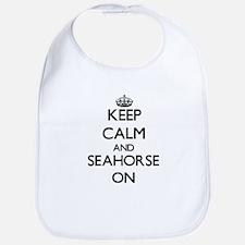 Keep calm and Seahorse Maryland ON Bib