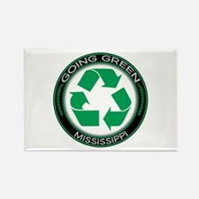 Going Green Mississippi (Recycle) Rectangle Magnet