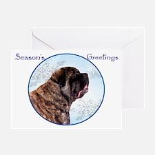 Brindle Seasons Greeting Card