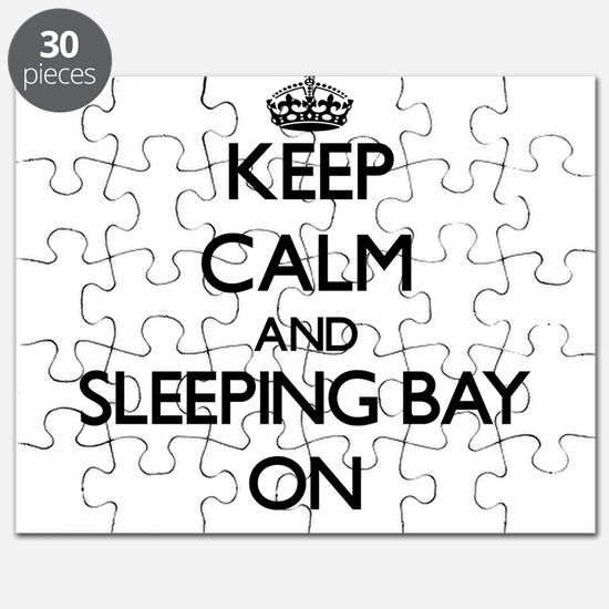 Keep calm and Sleeping Bay Michigan ON Puzzle