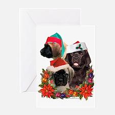 Santa Puppies Greeting Card