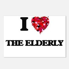 I love THE ELDERLY Postcards (Package of 8)