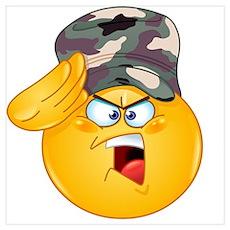 army emoji Poster