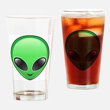 alien emoji Drinking Glass