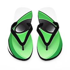 alien emoji Flip Flops