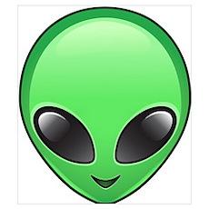 alien emoji Poster