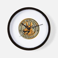 K-9 Unit Logo Wall Clock