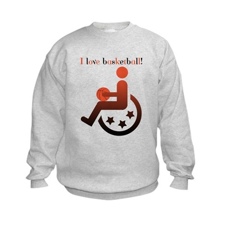 I love basketball Kids Sweatshirt