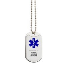 Allergic To Liberal Bovine Manure Dog Tags