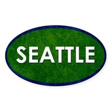 Seattle White Green Stone Decal