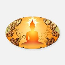 Buddha in the sunset Oval Car Magnet