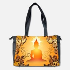 Buddha in the sunset Diaper Bag