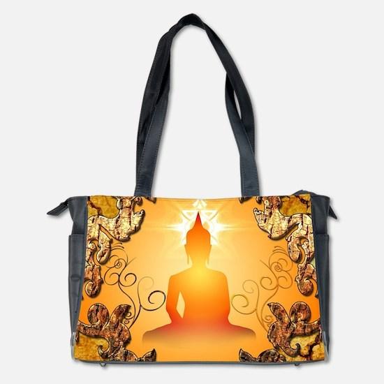 Buddha in the sunset Diaper Bag
