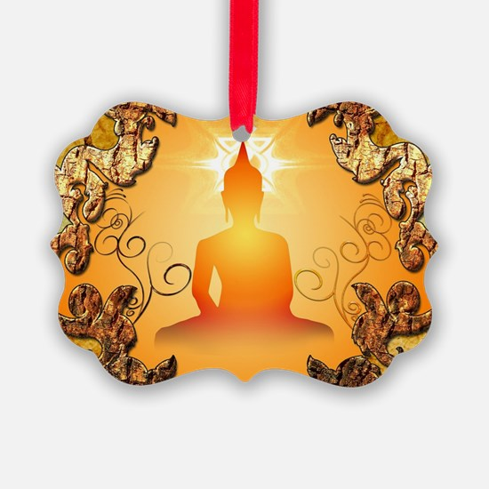 Buddha in the sunset Ornament